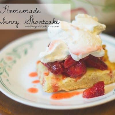 Homestead Cooking | Homemade Strawberry Shortcake {Seasonal}
