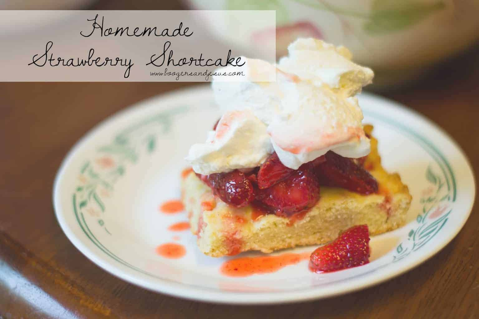 Homestead Cooking | Homemade Strawberry Shortcake {Seasonal}