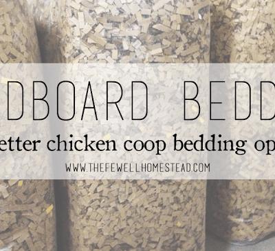 Cardboard Bedding — A Better Coop Option