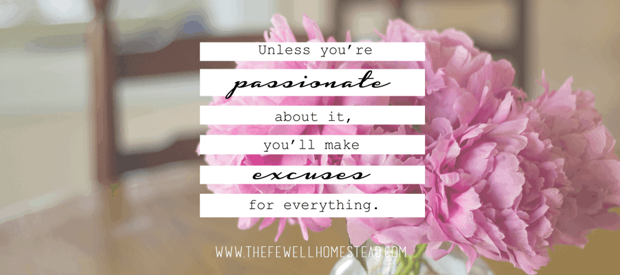 Unless You're Passionate About It, You'll Make Excuses For Everything