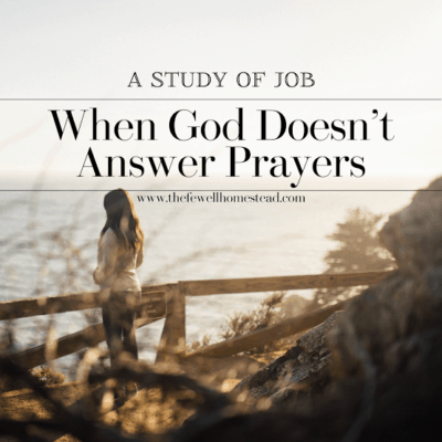 A Study of Job | When God Doesn't Answer Prayers