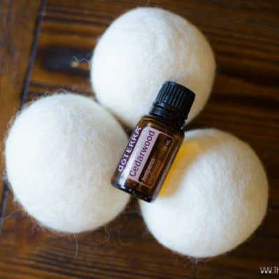 All Natural Wool Dryer Balls and Essential Oils