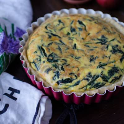 How To Make Spinach & Cheese Quiche