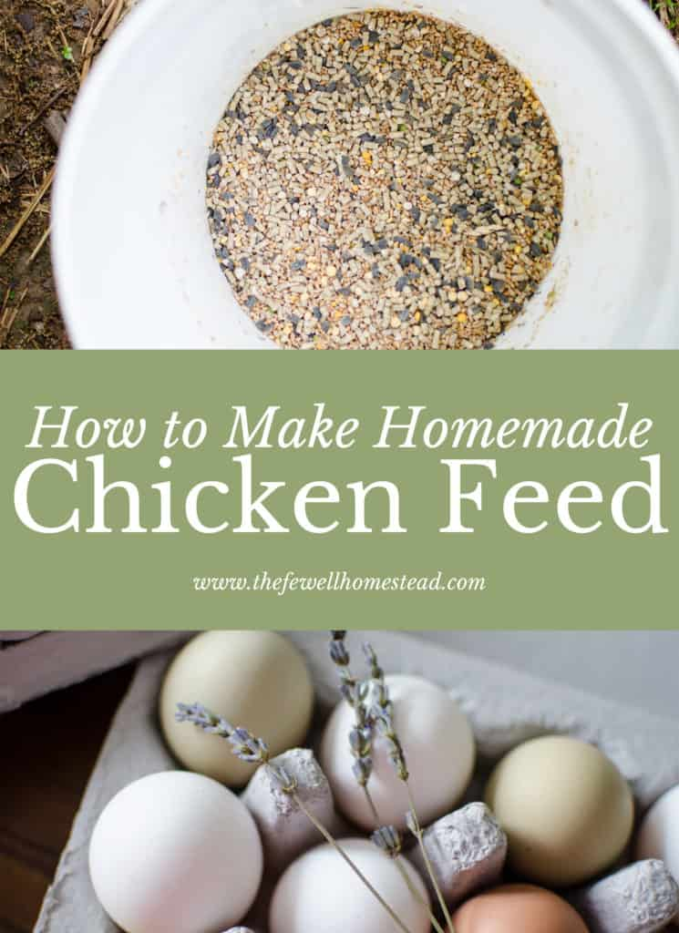 How To Make Homemade Chicken Feed Amy Fewell The Fewell Homestead