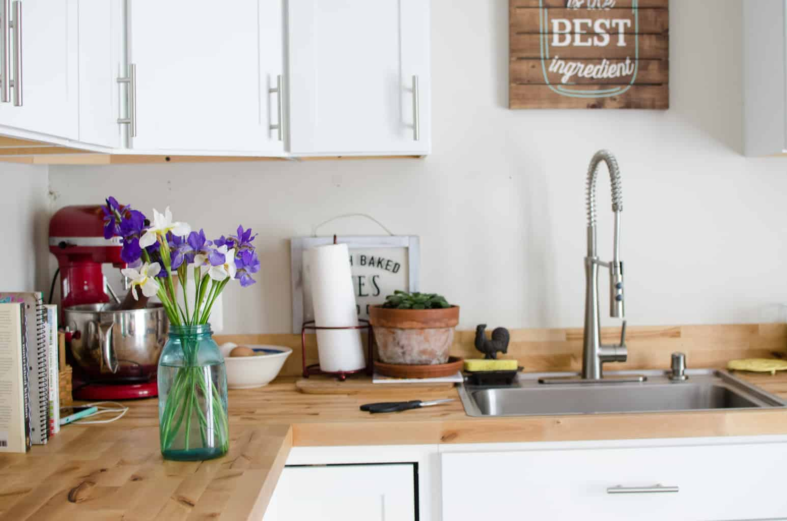 Farmhouse Butcher Block Countertops (with video) — Amy ... on Farmhouse Counter Tops  id=68912