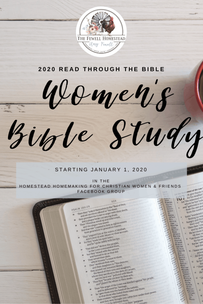 Homestead Homemaking Read the Bible in a Year 2020 Women's Bible Study