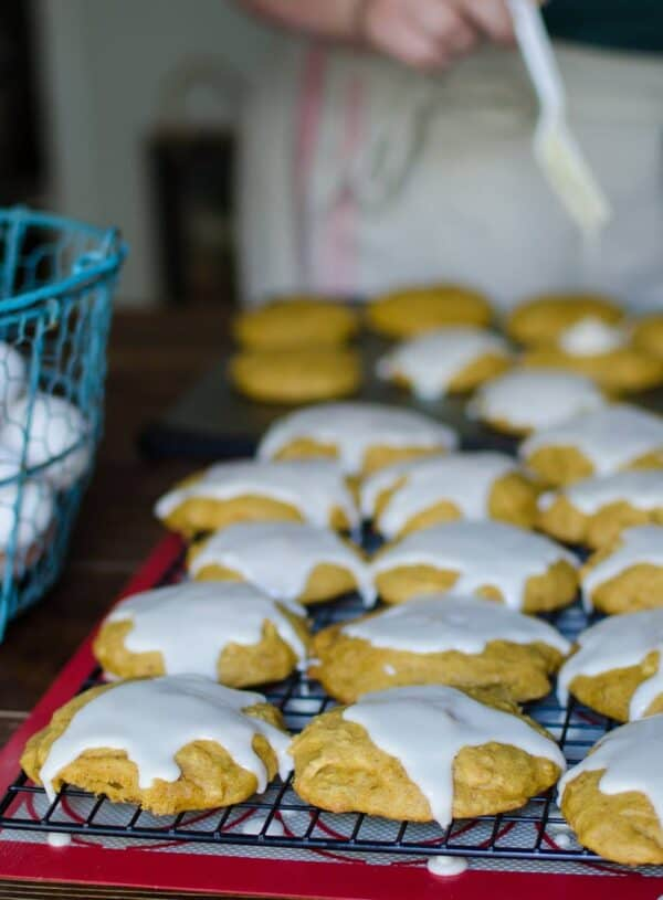 Easy Old Fashioned Soft Pumpkin Cookies with Icing