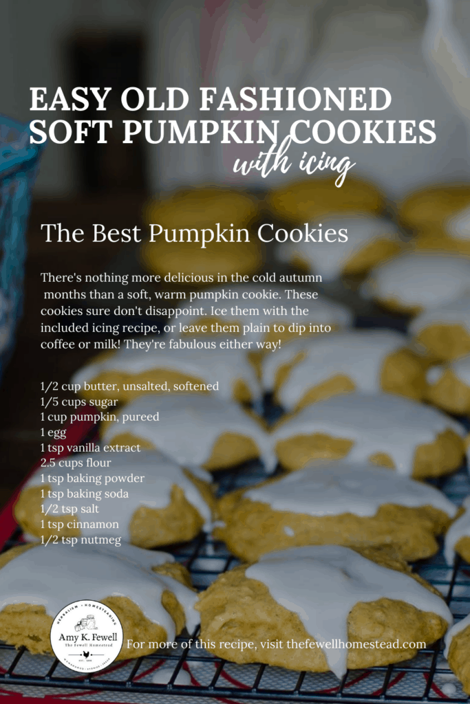 Easy Soft Pumpkin Cookies with Icing Recipe