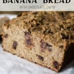 Gluten Free Chocolate Chip Banana Bread
