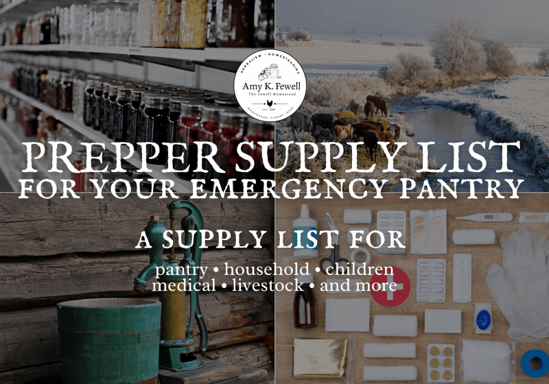 Prepper Supply List for Your Emergency Pantry