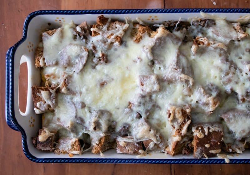Easy Breakfast Strata Recipe | Casserole with Bread